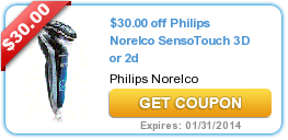 $30.00 off Philips Norelco SensoTouch 3D or 2d