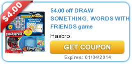 $4.00 off DRAW SOMETHING, WORDS WITH FRIENDS game
