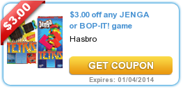 $3.00 off any JENGA or BOP-IT! game