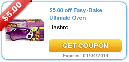 $5.00 off Easy-Bake Ultimate Oven