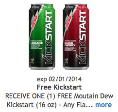 Free Kickstart Mountain Dew