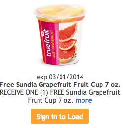 Free Sundia Grapefruit Cup
