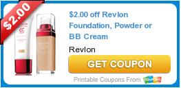 $2.00 off Revlon Foundation, Powder or BB Cream