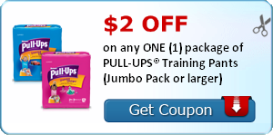 $3.50 on any ONE (1) package of PULL-UPS® Training Pants (Jumbo Pack or larger). Unlock when you complete 2 PULL-UPS activities.