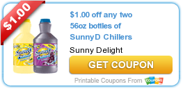 $1.00 off any two 56oz bottles of SunnyD Chillers