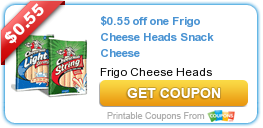 $0.55 off one Frigo Cheese Heads Snack Cheese