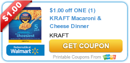 New Kraft Coupons $1.00 off ONE (1) KRAFT Macaroni & Cheese Dinner