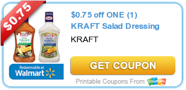 $0.75 off ONE (1) KRAFT Salad Dressing