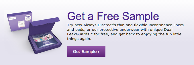 always-discreet-pads-liners-free-sample