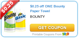 $0.25 off ONE Bounty Paper Towel