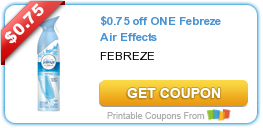 $0.75 off ONE Febreze Air Effects