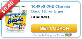 $0.40 off ONE Charmin Basic 12ct or larger