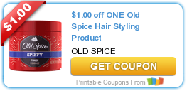 $1.00 off ONE Old Spice Hair Styling Product