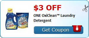 $3.00 off ONE OxiClean™ Laundry Detergent