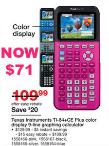 71 Texas Instruments Ti 84 Ce Plus Calculator Reg 129 Qpon Junkie